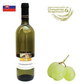 Chowaniec a Krajčírovič Chardonnay akostné 2017 750ml